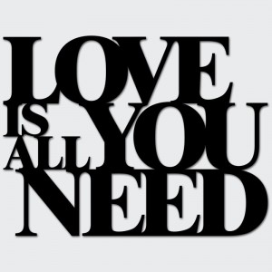 Napis na ścianę LOVE IS ALL YOU NEED