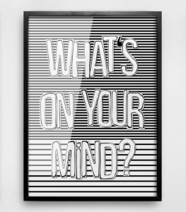 "Plakat ""ON YOUR MIND"""