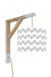 Lampa kinkiet Simple chevron szary