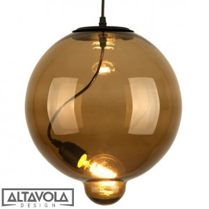 Lampa szklana brązowa MODERN GLASS BUBBLE