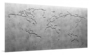 Panel dekoracyjny Mapa beton Map Of The World