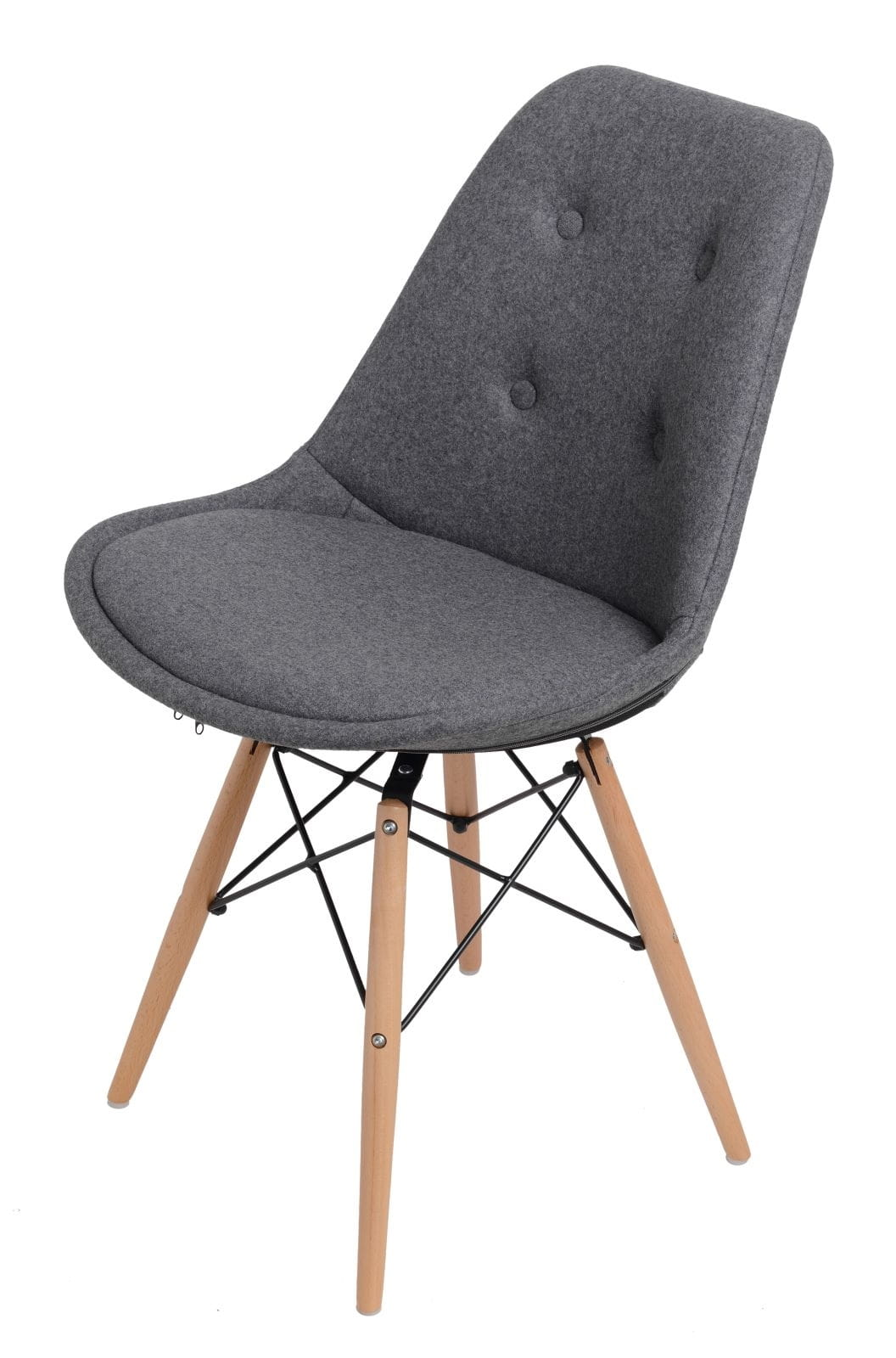 Cudowna Krzesło Skandynawskie pikowane szare LEVEN design for you TE27