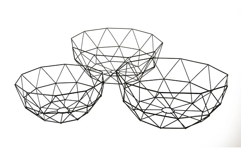 Zupełnie nowe KOSZ koszyki METALOWY vintage na owoce LEVEN design for you FW15